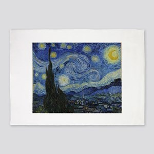 Vincent Van Gogh Starry Night 5'x7'Area Rug